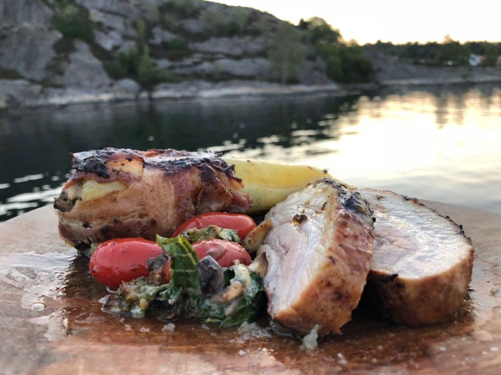 pork belly grønnkål og soppstuing